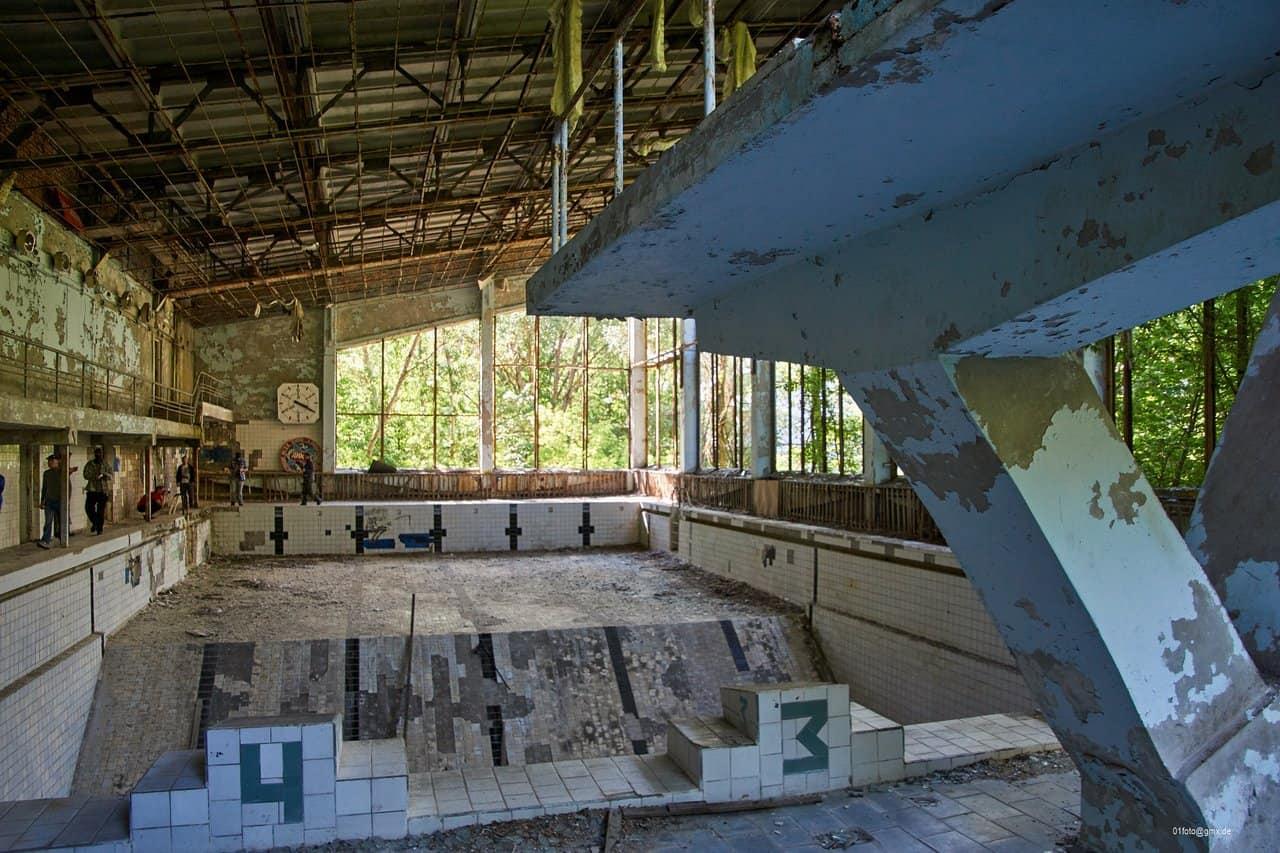 Schwimmbad Lazurnyj in Pripjat
